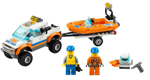 Lego 4x4 & Diving Boat #2