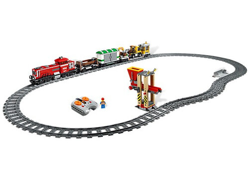 Lego Red Cargo Train #2