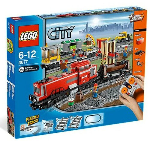 Lego Red Cargo Train #3