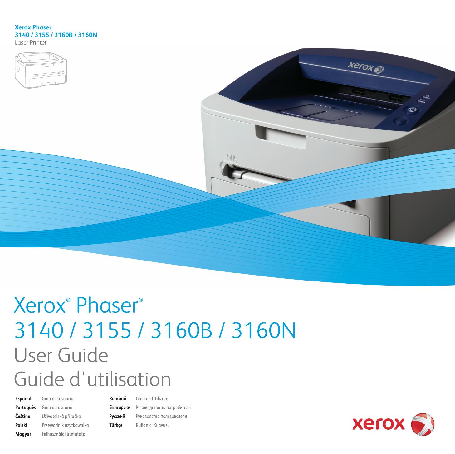 Manuál Xerox Phaser 3140 návod (75 stránek)